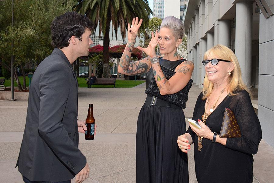 Actor Ian Harding (Pretty Little Liars), PLL costume designer Mandi Line, and costume designer Ellen Mirojnick (Behind the Candelabra).