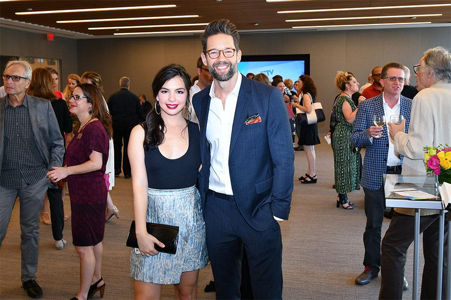 Isabella Gomez and Todd Grinnell at The Power of TV: A Conversation with Norman Lear and One Day at a Time, presented by the Television Academy Foundation and Netflix in celebration of the Foundation's 20th Anniversary of THE INTERVIEWS: An Oral History P