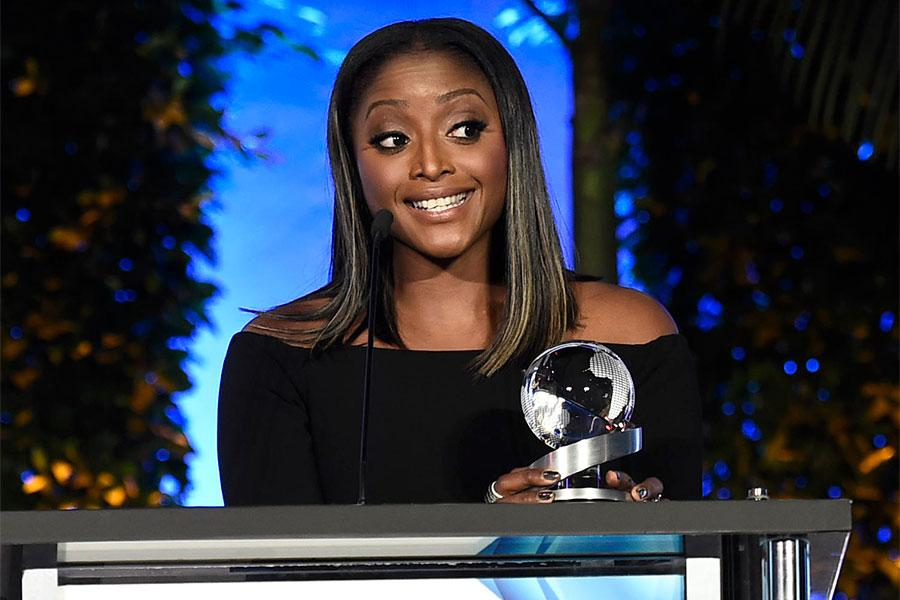 Isha Sesay at the 2017 Television Academy Honors at the Montage Hotel on Thursday, June 8, 2017, in Beverly Hills, California.