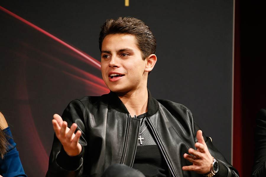 Jake T. Austin onstage at An Evening with The Fosters in Los Angeles, California.