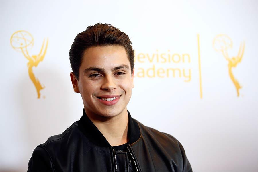 Jake T. Austin on the red carpet at An Evening with The Fosters in Los Angeles, California.