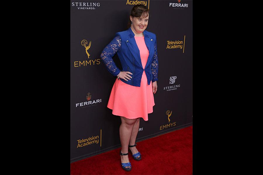 Jamie Brewer at the Performers Peer Group Celebration, August 22, 2016, at the Montage Beverly Hills in Beverly Hills, California.