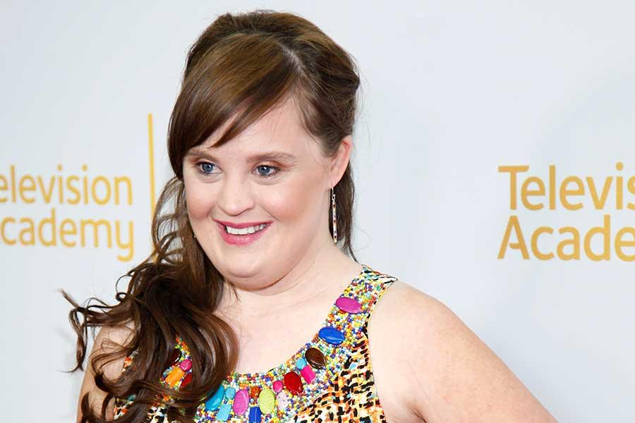 Jamie Brewer arrives at An Evening with the Women of American Horror Story in Hollywood, California.