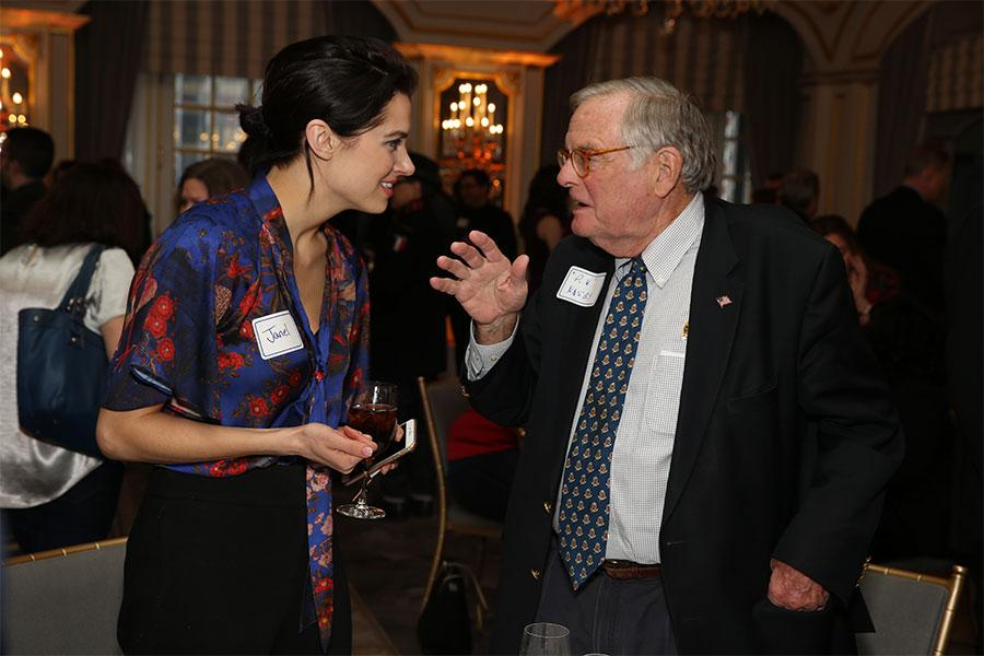 Janel Koloski and P.V. Nasby at Television Academy's Networking Night Out at the St. Regis on Friday, April 6, 2018 in New York.