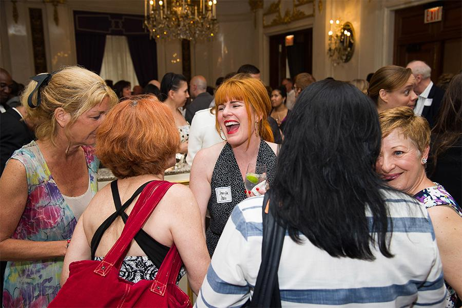 J.C. Sullivan, Jennifer Serio, and Inga Thrasher at Networking Night Out NYC! at the St. Regis Hotel in New York City, June 12, 2015.