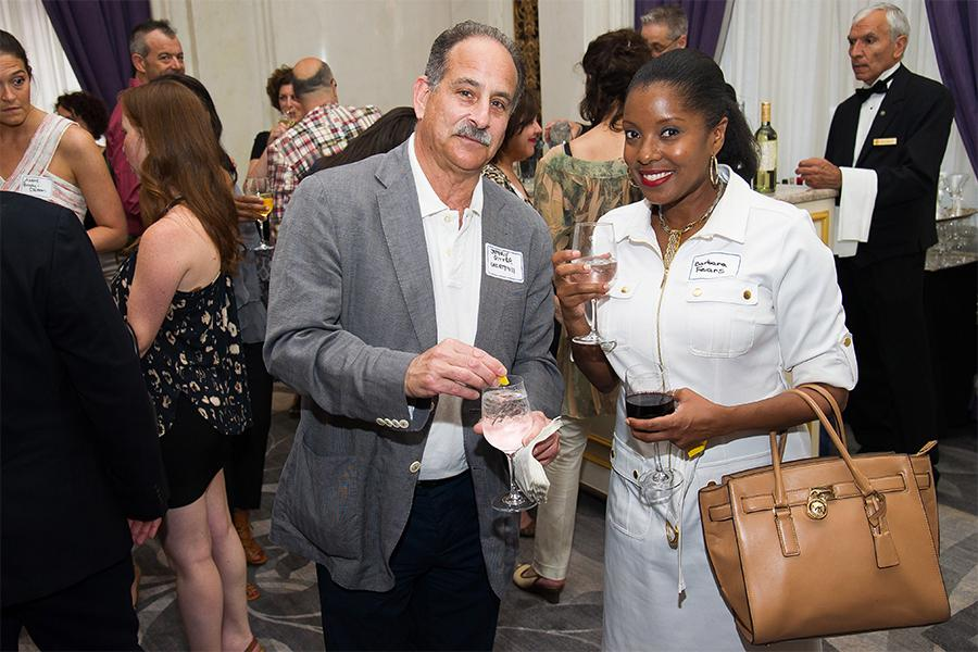 Jeffry Gitter and Barbara Fears at Networking Night Out NYC! at the St. Regis Hotel in New York City, June 12, 2015.