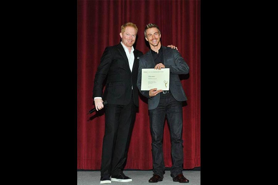 Jesse Tyler Ferguson and Derek Hough at the Choreographers Nominee Reception in North Hollywood, California.