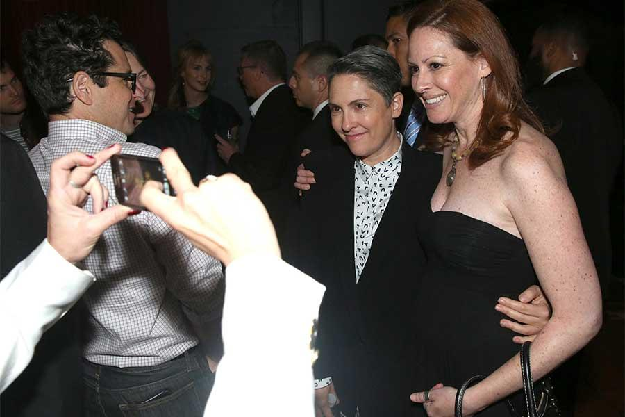 Jill Soloway and a guest at the reception following Transparent: Anatomy of an Episode, March 17, 2016 in Los Angeles.