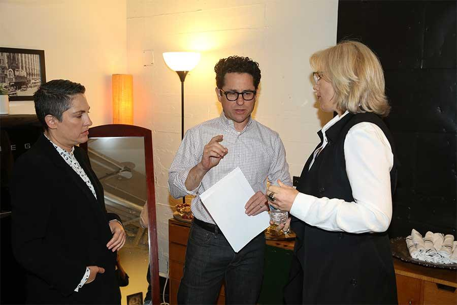 Creator Jill Soloway, J.J. Abrams, and Sunny Hodge at Transparent: Anatomy of an Episode, March 17, 2016 in Los Angeles.