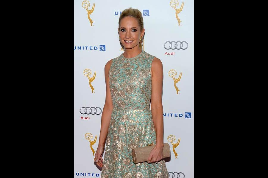 Joanne Froggatt arrives at the Performers Peer Group nominee reception in West Hollywood.