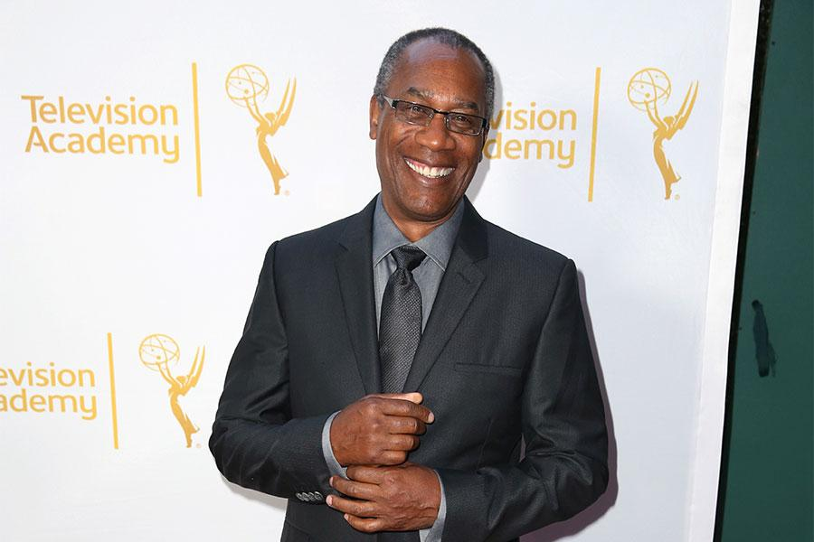 Joe Morton arrives at the Montage Beverly Hills for the 2014 Performers Peer Group Primetime Emmy nominee reception.