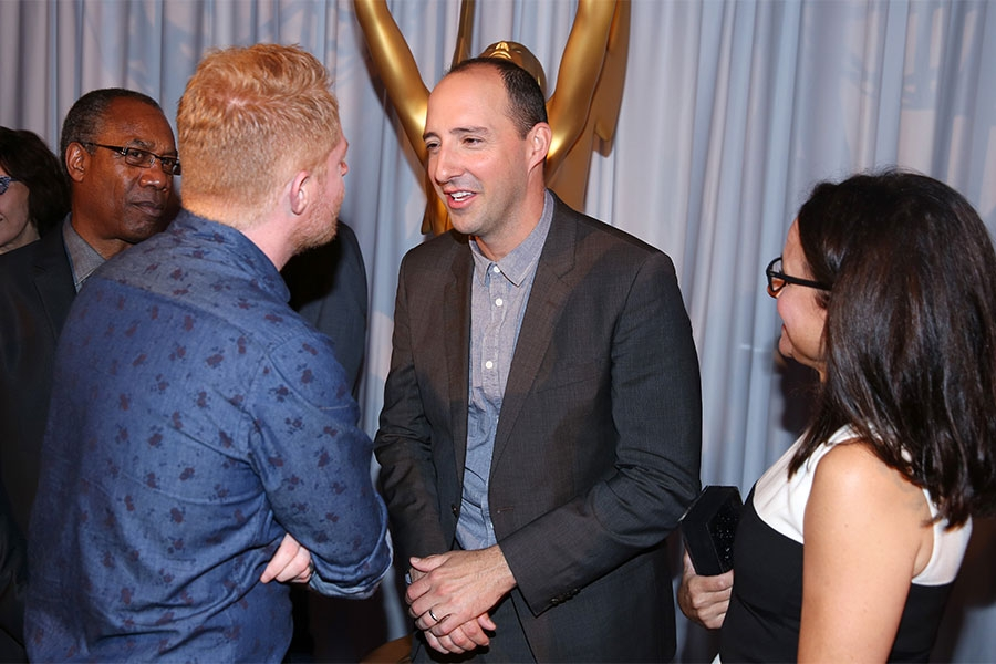Joe Morton, Jesse Tyler Ferguson, Tony Hale and Julia Louis-Dreyfus at the Performers Peer Group nominee reception.