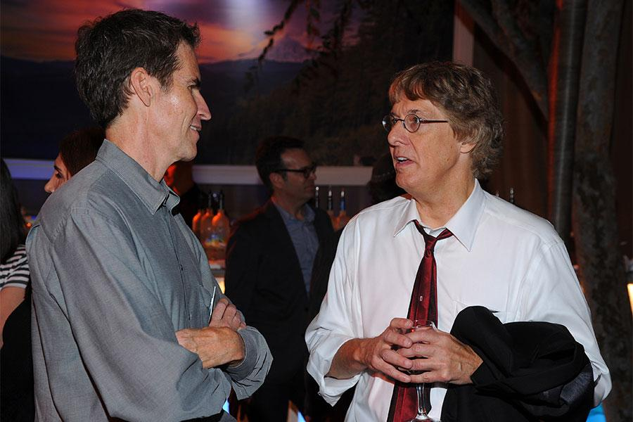 Chip Johannessen and Rich Whitley at the Writers Nominee Reception in North Hollywood, California.