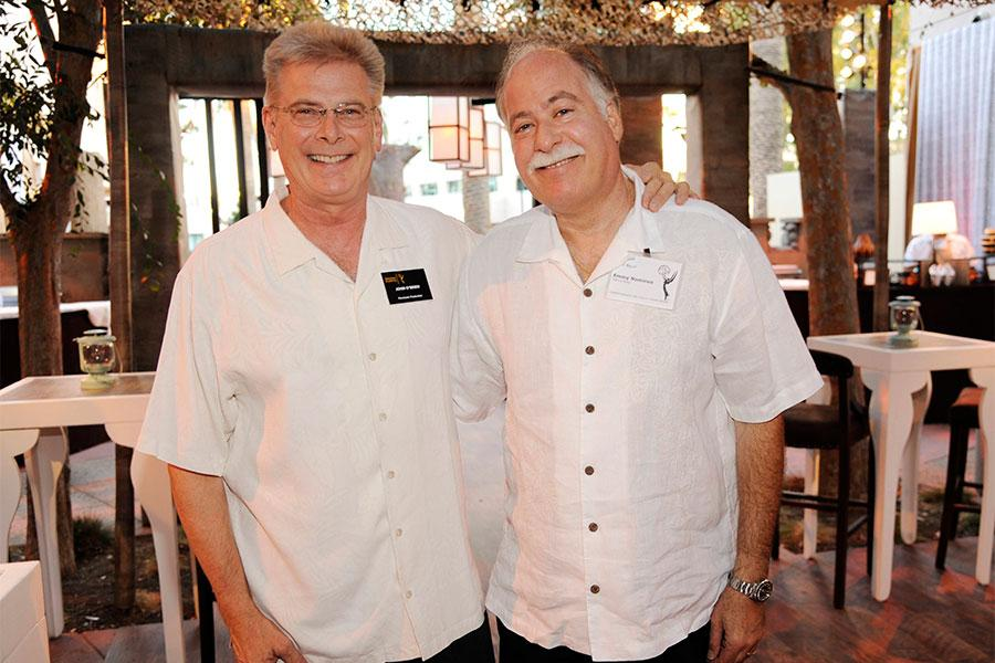 John O'Brien and Gary Baum at the Cinematographers/Electronic Production Nominee Reception in North Hollywood, California.