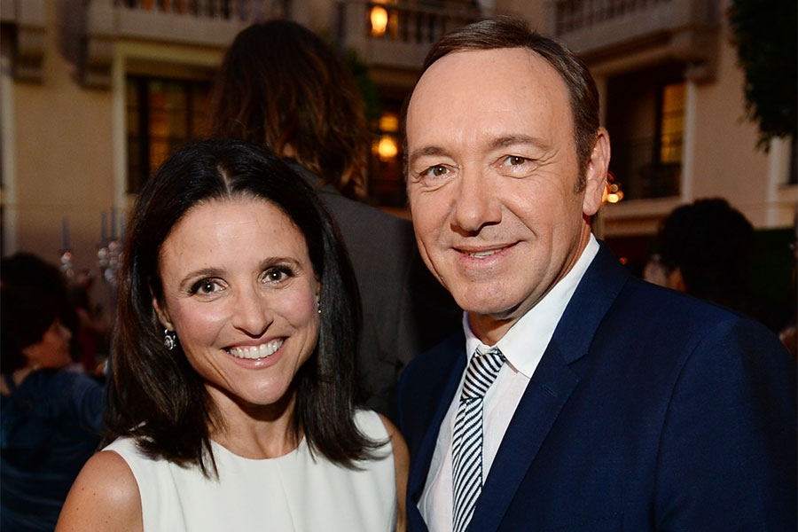 Julia Louis-Dreyfus and Kevin Spacey at the Performers Peer Group nominee reception.