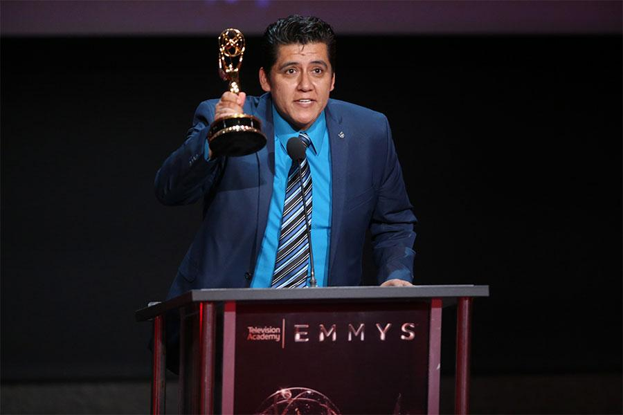 Julio Cesar Ortiz at the L.A. Area Emmy Awards presented at the Television Academy's Wolf Theatre at the Saban Media Center on Saturday, July 22, 2017, in North Hollywood, California.