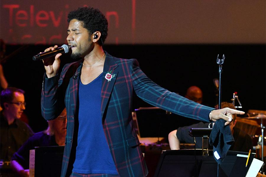 Jussie Smollett performs at WORDS + MUSIC, presented Thursday, June 29, 2017 at the Television Academy's Wolf Theatre at the Saban Media Center in North Hollywood, California.
