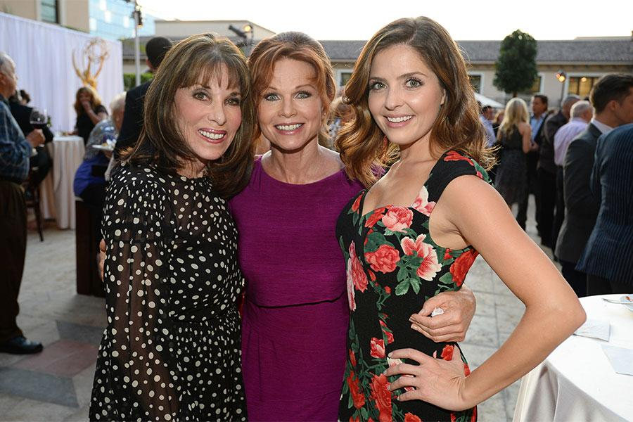 Kate Linder, Patsy Pease, and Jen Lilley at the Performers Peer Group nominee reception.