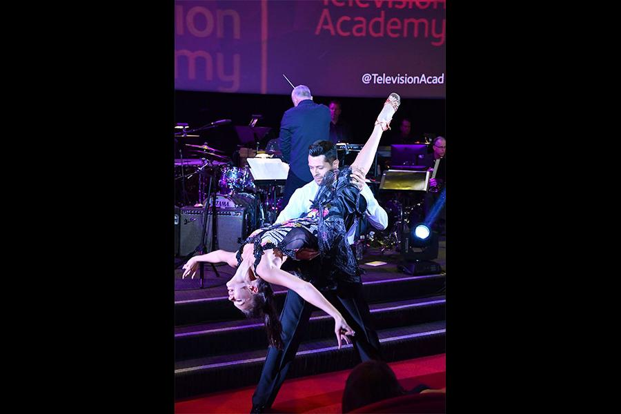 Kateryna Klishyna and Paul Barris perform at WORDS + MUSIC, presented Thursday, June 29, 2017 at the Television Academy's Wolf Theatre at the Saban Media Center in North Hollywood, California.