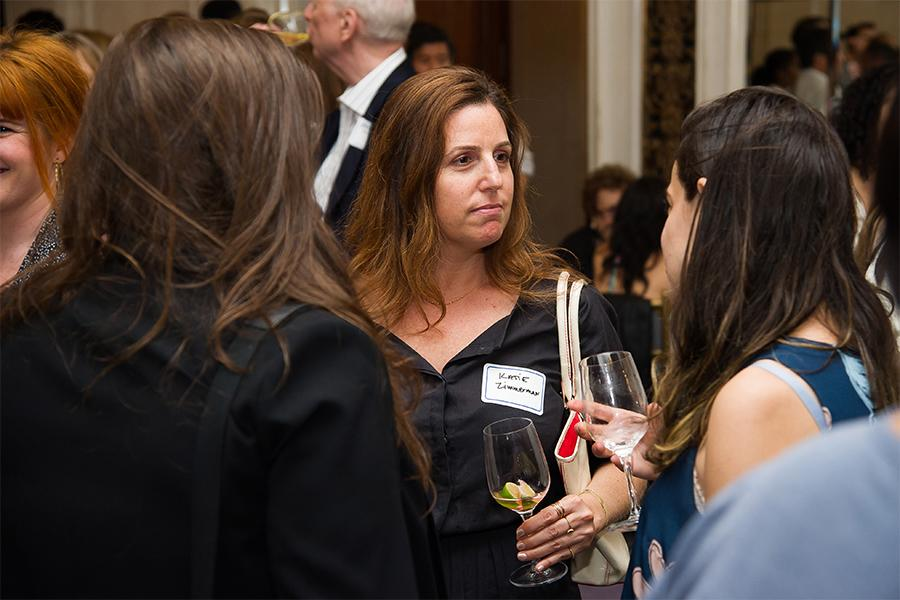 Katie Zimmerman at Networking Night Out NYC! at the St. Regis Hotel in New York City, June 12, 2015.
