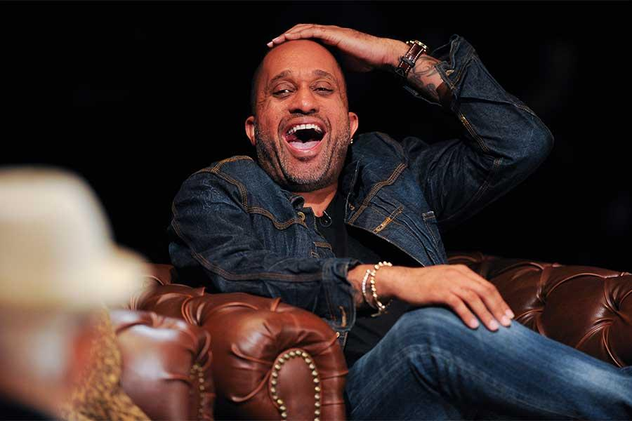 Kenya Barris onstage at An Evening with Norman Lear at the Montalban Theater in Hollywood.