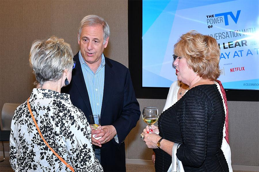 Television Academy Foundation board member Kevin Hamburger and guests at The Power of TV: A Conversation with Norman Lear and One Day at a Time, presented by the Television Academy Foundation and Netflix in celebration of the Foundation's 20th Anniversary