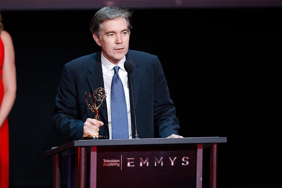 Kevin Hanlon at the L.A. Area Emmy Awards presented at the Television Academy's Wolf Theatre at the Saban Media Center on Saturday, July 22, 2017, in North Hollywood, California.