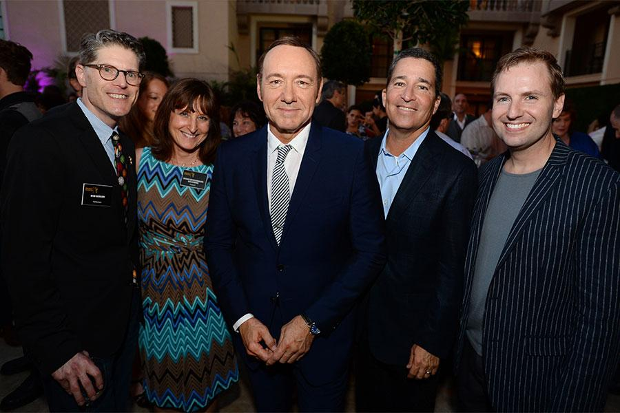 Bob Bergen, Susan Nessanbaum-Goldberg, Kevin Spacey, Bruce Rosenblum and MaMcIntyre at the Performersury  Peer Group nominee reception.