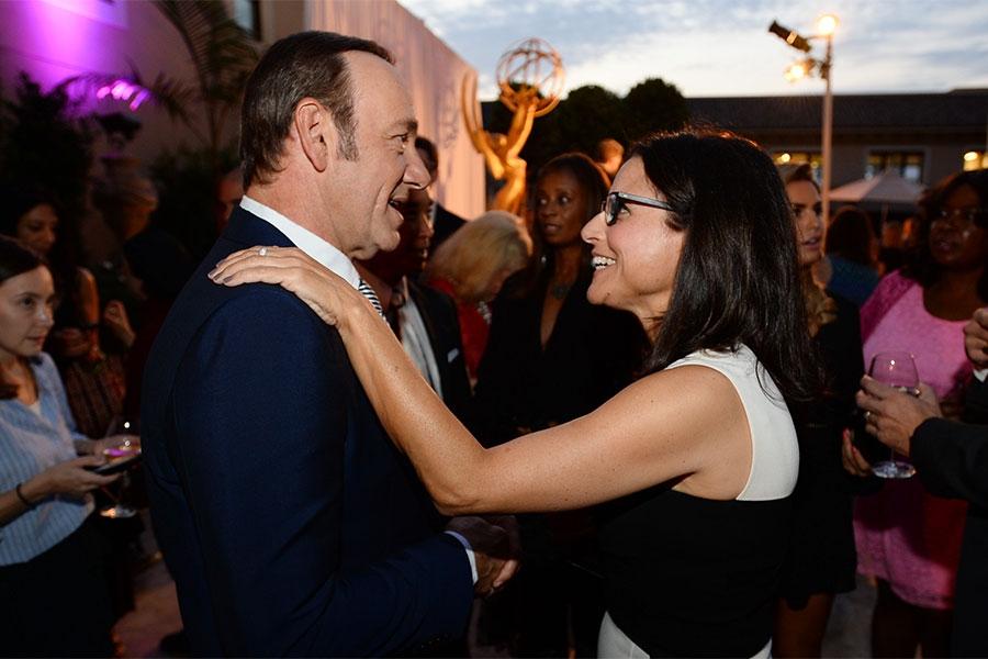 Kevin Spacey andJulia Louis-Dreyfus at the Performers Peer Group nominees reception.