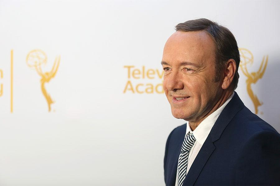 Kevin Spacey arrives at the Montage Beverly Hills for the 2014 Performers Peer Group Primetime Emmy nominee reception.