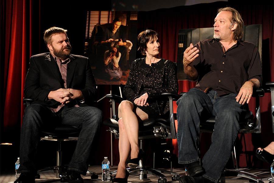 Robert Kirkman, Gail Ann Hurd and Greg Nicotero at An Evening with The Walking Dead.