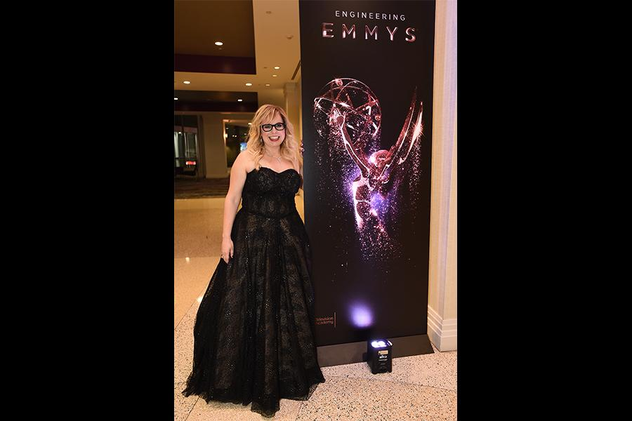 Kirsten Vangsness at the 69th Engineering Emmy Awards at the Loews Hollywood Hotel on Wednesday, October 25, 2017 in Hollywood, California.