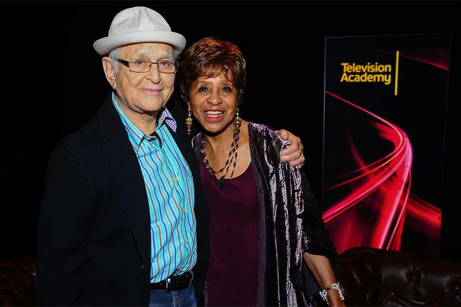 Norman Lear and Marla Gibbs backstage at An Evening with Norman Lear at the Montalban Theater in Hollywood.