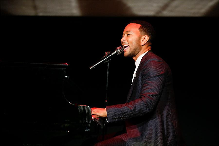 John Legend performs Bob Marley's