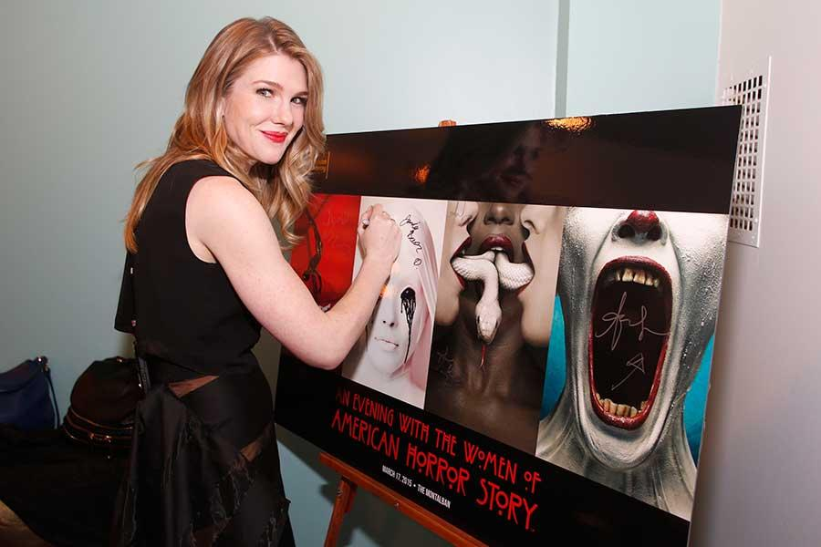 Lily Rabe at An Evening with the Women of American Horror Story in Hollywood, California.