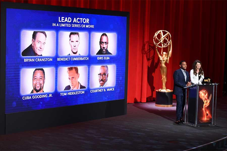 Anthony Anderson and Lauren Graham announce the nominees for Lead Actor in a Limited Series in the Wolf Theatre at the Saban Media Center, North Hollywood, California on July 14, 2016.