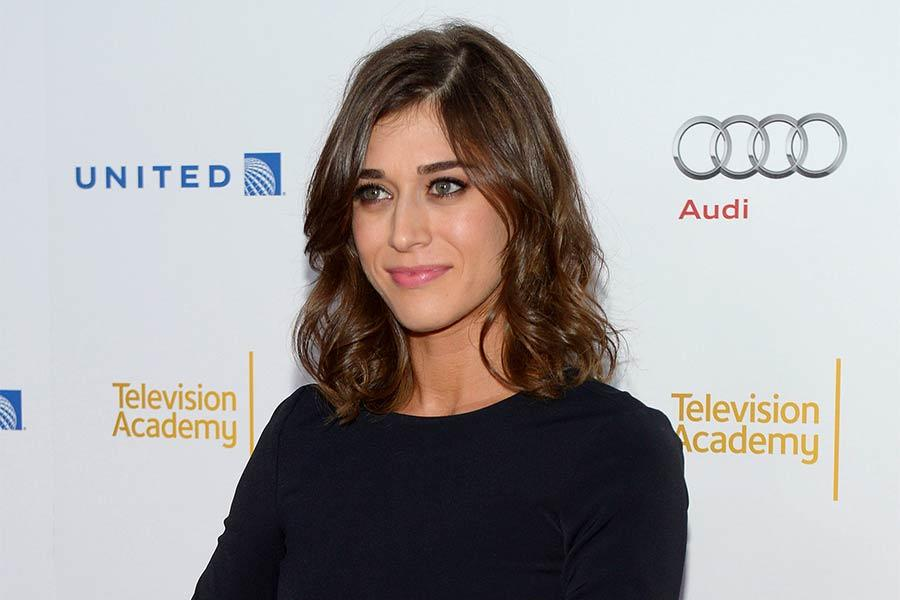Lizzy Caplan arrives at the Performers Peer Group nominee reception in West Hollywood.