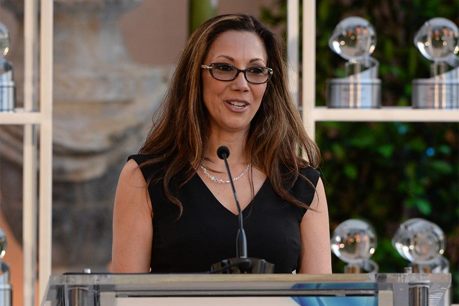 Lucia Gervino, Honors chair, speaks at the awards presentation at the Eighth Annual Television Academy Honors, May 27 at the Montage Beverly Hills.