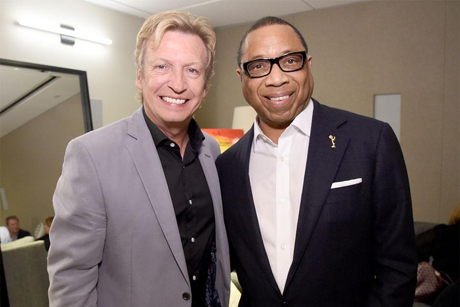 Nigel Lythgoe and Television Academy chairman and CEO Hayma Washington at Mike Darnell: Reality TV's Great Provocateur at the Saban Media Center in North Hollywood, California, March 29, 2017.