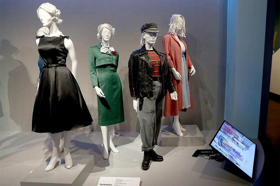 Costumes From The Marvelous Mrs Maisel Are Displayed At The 2018 Costume Design Supervision Nominee Reception At The Fashion Institute Of Design Marketing In Los Angeles California On August 18 2018