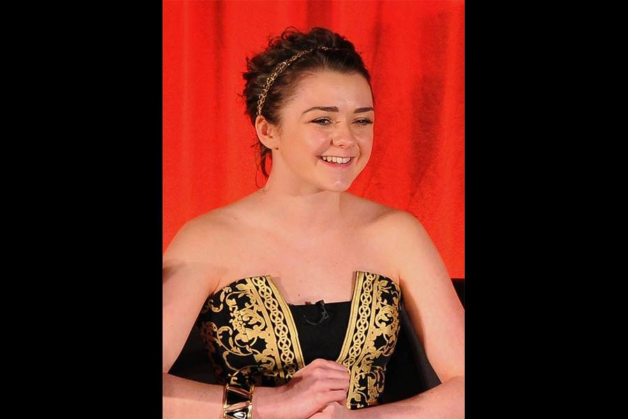 Maisie Williams onstage at An Evening with Game of Thrones.