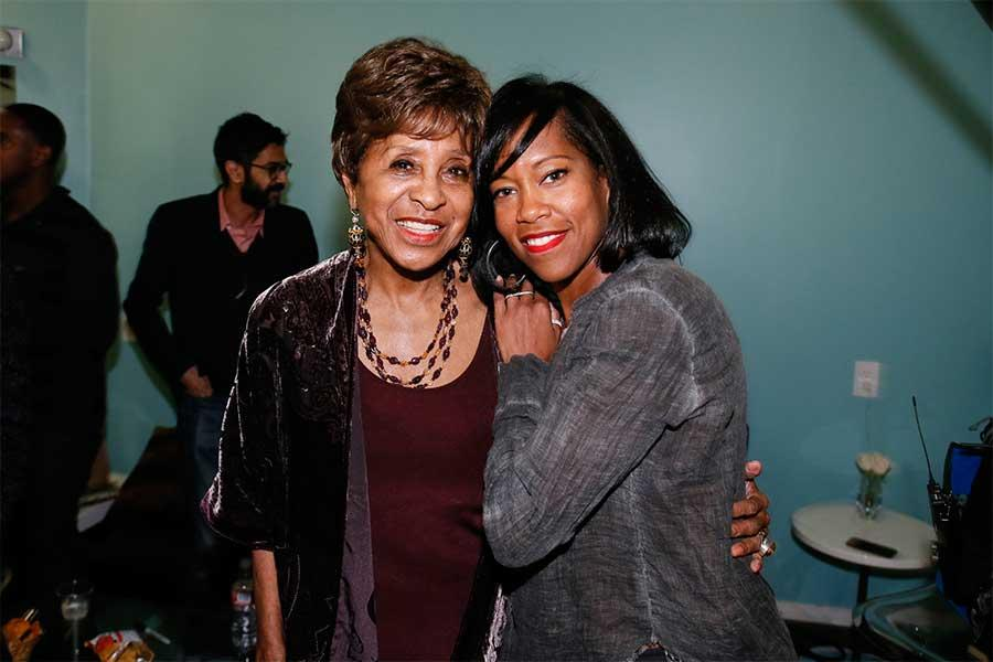 Marla Gibbs and Regina King backstage at An Evening with Norman Lear at the Montalban Theater in Hollywood.