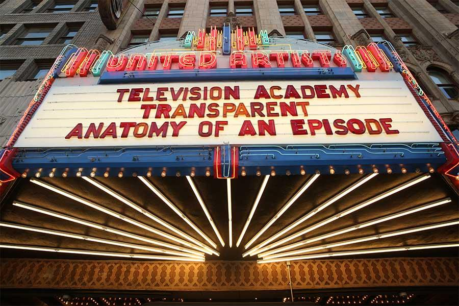 Event marquee at the Ace Theater at Transparent: Anatomy of an Episode, March 17, 2016 in Los Angeles.