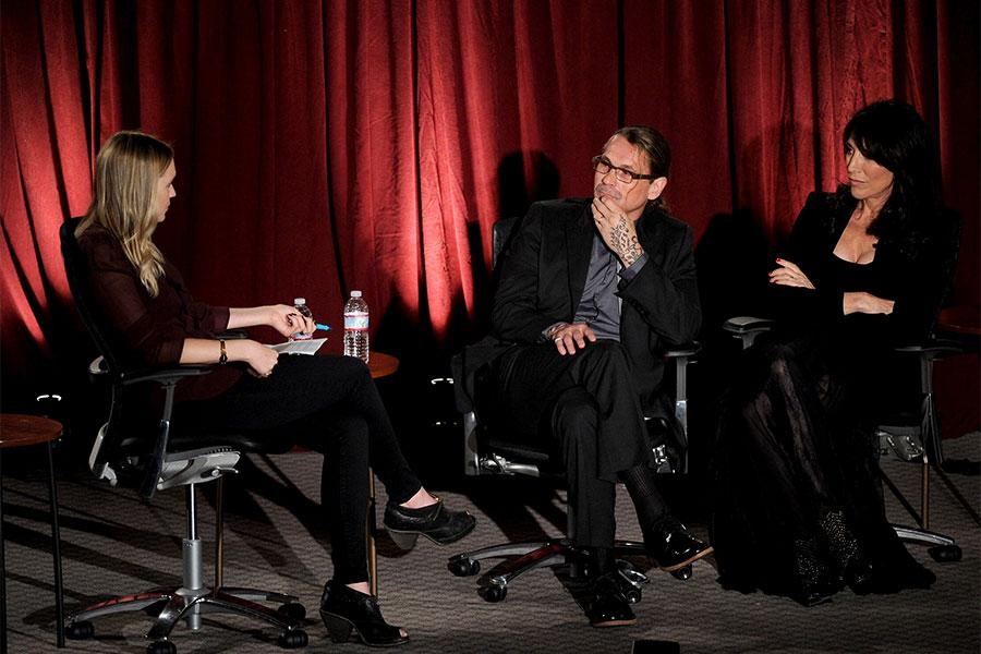 Meg Masters, Kurt Sutter and Katey Sagal at An Evening with Sons of Anarchy.