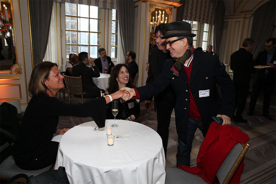 Melissa Steinhauser, Lisa Kaplan, Tony Daniels, and David Hausen Surreal at Television Academy's Networking Night Out at the St. Regis on Friday, April 6, 2018 in New York.