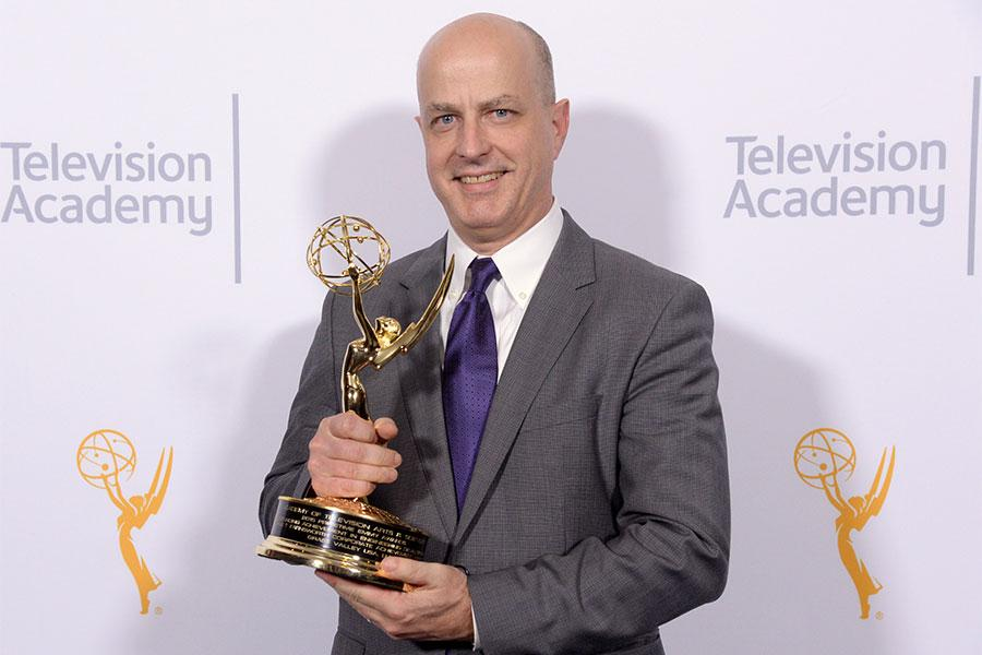Michael Cronk at the 2015 Engineering Emmys at the Loews Hotel in Los Angeles, October 28, 2015.