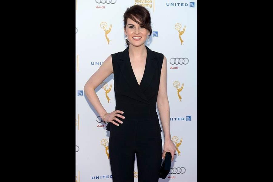 Michelle Dockery arrives at the Performers Peer Group nominee reception in West Hollywood.