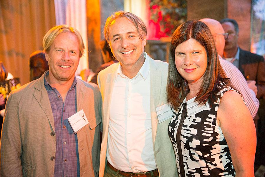 Mitch Claspy, Erik Henry, and Annemarie Griggs at the Special Visual Effects Nominee Reception in North Hollywood, California.