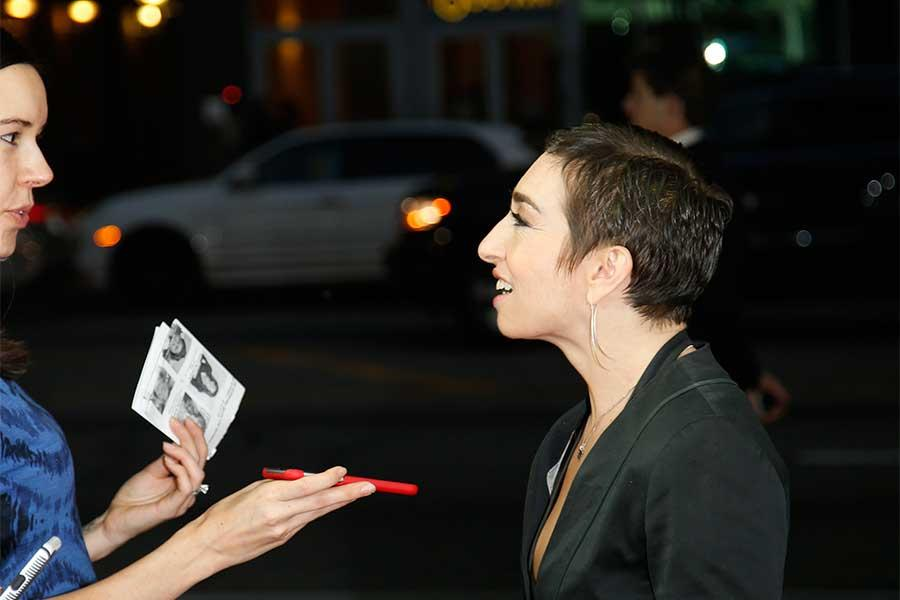 Naomi Grossman is interviewed at An Evening with the Women of American Horror Story in Hollywood, California.