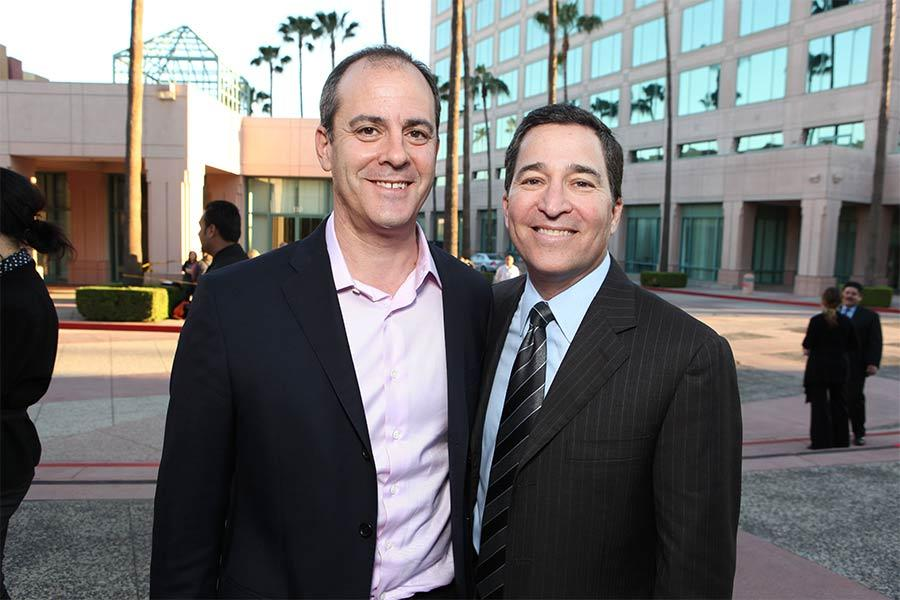 Showtime president David Nevins and Television Academy CEO Bruce Rosenblum at An Evening with Homeland.